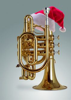 Pocket Trumpet with Santa Hat