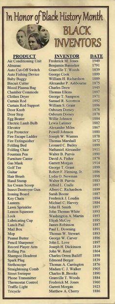 Black Inventors; Black History