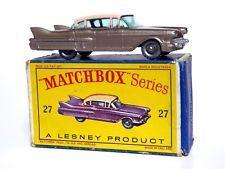 Matchbox Lesney No.27c Cadillac Sixty Special 'D' Box (VERY RARE METALLIC BROWN)
