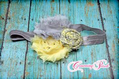Hair Accessories Fabric Flowers Headband Hair by CrowningPetals, $14.50