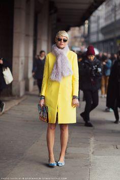 s†®єє† ᵴ†yℓε - Elisa Nalin,yellow coat