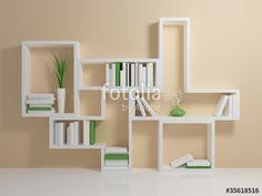 """Pobierz zdjęcie royalty free  """"White bookshelf"""" autorstwa rukanoga w najniższej…"""
