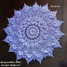 Draksha A textured crochet doily pattern Crochet Doily Patterns, Crochet Mandala, Thread Crochet, Crochet Doilies, Crochet Flowers, Crochet Hooks, Victorian Collar, Etsy App, Cotton Thread