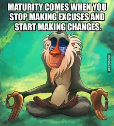 Maturity comes when...