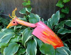 Bird Yard Art, Handmade Iron Art, Garden Decor, Garden Sculpture