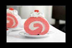 Pink Velvet Roulade. Recipe at SprinkleBakes.com