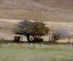 Cattle in Shade, 6 x 7 inches, oil on panel. Marc Bohne
