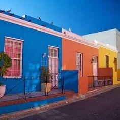 De kleurrijke wijk de Bo-Kaap in Kaapstad, Zuid-Afrika
