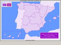 Mapa interactivo de España Comunidades autónomas. ¿Dónde está? - Mapas Flash Interactivos de Enrique Alonso