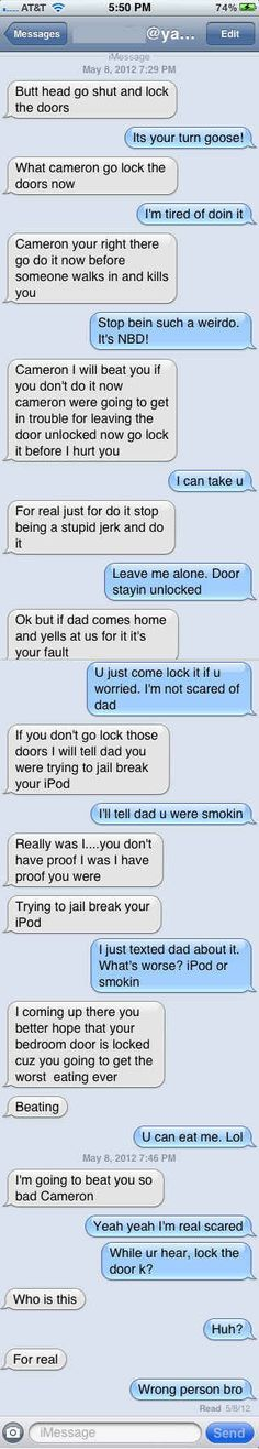 The Pretend You're Someone's Little Brother Approach: | 26 Absolutely Perfect Ways To Respond To A Wrong Number Text