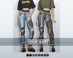 Tops: -The Sims 2 / AF Avine T-shirt / 18 colors -The Sims 2 / AF Wildfire Top / 9 colors -The Sims 2 / AF Champion Hoodie / 8 colors -The Sims 2 / AF Acne Studios Sweatshirt / 10 colors Bottoms: -The. The Sims 4 Pc, Sims 4 Cas, Sims Cc, Sims 4 Mods Clothes, Sims 4 Clothing, Die Sims 4 Packs, Vêtement Harris Tweed, Trashed Jeans, The Sims 4 Cabelos