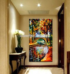 BA Oil Painting 100% Hand-painted Modern Design Knife Oil Canvas Painting Landscape Oil Paintings On Canvas Big Size
