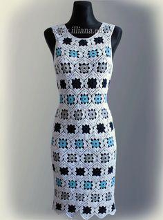 Vestido. Patrón de ganchillo No 229 por Illiana en Etsy