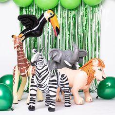 Opblaas Giraffe van 74 x 65 cm Jungle Party, Giraffe, Safari, Dinosaur Stuffed Animal, Van, Toys, Handmade, Swim, Animals