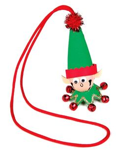 Nicole™ Crafts Elf Jingle Bell Necklace #christmas #kids #craft