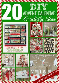 Sassy Style: 20 DIY Advent Calendar & Activity Ideas
