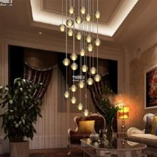 LED Meteor Luz do Candelabro de Cristal Luminárias Garantido 100% Magia Bola De Cristal lustres de cristal lustres e pendentes(China (Mainland))