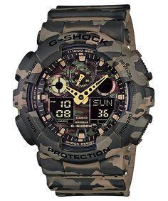 6b5f6c88726 Relógio Casio G-Shock GA-100CM-5A Relogio Camuflado