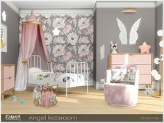 sims 4 cc // custom content clutter decor furniture // Severinka_'s Angel kids r. sims 4 cc // custom content clutter decor furniture // Severinka_'s Angel kids room Sims 4 Toddler, Toddler Rooms, The Sims 4 Bebes, Sims 4 Beds, Sims 4 Children, 4 Kids, Sims 4 Bedroom, Diy Bedroom, Lego Bedroom