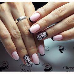 Bright french manicure 2017, Evening french manicure, French manicure ideas…