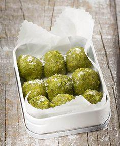pistachio bonbons.
