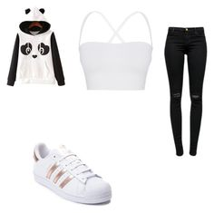 """""""#415"""" by aureeliet on Polyvore featuring WithChic, Theory, J Brand and adidas"""