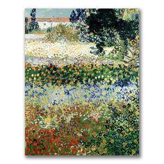 Van Gogh 'Garden in Bloom' Canvas Art | Overstock.com Shopping - The Best Deals on Canvas
