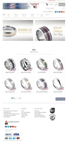 Tungsten carbide rings and wedding bands designed for guys!