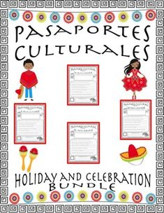 Pasaporte Cultural - Holiday/Celebration Bundle by LA SECUNDARIA  | Teachers Pay Teachers