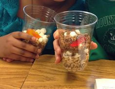 Creating edible soil to show the soil layers!