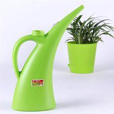 Puede botella de aerosol plástico larga boquilla de planta de flor 1500ml nórdico riego de jardines de estilo
