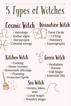 Which Witch Are You? 5 Types of Witches Which Witch Are You? 5 Types of Witches I'm a kitchen witch, what are you? Baby Witch, Sea Witch, Lunar Magic, Witch School, Witchcraft For Beginners, Wiccan Witch, Wiccan Spells, Magic Spells, Wiccan Rede