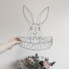 """Lapin à la collerette """"Alice in wonderland"""""""