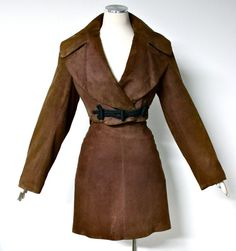 Vintage AZZEDINE ALAIA Bolero Brown Suede Jacket by StatedStyle, $1075.00
