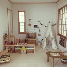 mukuさんの、部屋全体,ナチュラル,雑貨,和室,子ども部屋,DIY,ドライフラワー,セリア,salut!,ガーランド,3Coins,ままごとキッチン,カインズ,のお部屋写真