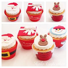 ❄️How to make RUDOLPH cupcake toppers for #christmas. Much easier than you think :)
