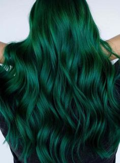 Stunning Green Hair Colors For Long Hairstyles for can find Green hair and more on our website.Stunning Green Hair Colors For. Vivid Hair Color, Green Hair Colors, Hair Color Dark, Cool Hair Color, Crazy Hair Colour, Bright Hair Colors, Hair Colours, Green Nails, Color Black