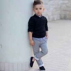 Black and gingham. kido baby boy fashion, kids fashion boy и Toddler Boy Fashion, Little Boy Fashion, Toddler Boy Outfits, Toddler Boys, Kids Boys, Fashion Kids, Toddler Boy Style, Baby Boy Dress, Baby Boy Swag