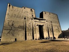 Edfu Temple of the falcon god, Horus