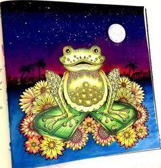 Inspirational Coloring Pages by Sheyla Braz #inspiração #coloringbooks #livrosdecolorir #jardimsecreto #secretgarden #florestaencantada #enchantedforest #reinoanimal #animalkingdom #adultcoloring #milliemarotta #sapo