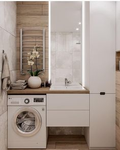 Great Bathroom Decor And Design - Top Style Decor Laundry Room Design, Bathroom Layout, Modern Bathroom Design, Bathroom Interior Design, Interior Design Living Room, Contemporary Bathrooms, Bath Design, Bathroom Designs, Narrow Bathroom
