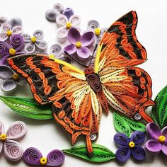 #butterfly #charaxescandiope #quillingpaper #quillingart #tranhobao Paper Quilling Jewelry, Paper Quilling Patterns, Quilled Paper Art, Quilling Designs, Polymer Clay Jewelry, Quilling Ideas, Quilling Butterfly, Neli Quilling, Butterfly Wall Art