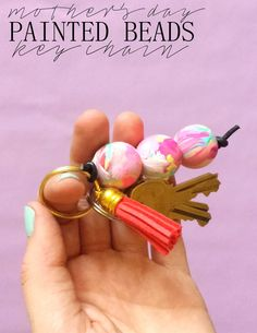 Mother's Day Keychain, super easy kid craft for a gift