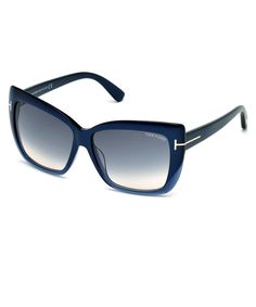 SECRETSALES, Discount Designer Clothes Sale Online - Irina navy blue box sunglasses