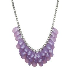Pretty teardrop gem statement necklace