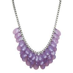 Pretty teardrop gem statement necklace