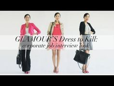 ▶ What to Wear to Work- Glamour Dress to Kill - YouTube
