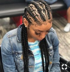 Ethereal Goddess Braids to Grace Your Hair. Goddess braids hairstyles are mesmerizing with their female allure and ethereal magnificence. Feed In Braids Hairstyles, African Hairstyles, Cainrow Hairstyles, Hairstyle Ideas, Goddess Hairstyles, Fashion Hairstyles, Black Girl Braids, Girls Braids, 2 Braids Men