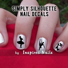 I just like it that's why! :)   Ballet Nail Decals Black and Clear Simply by InspiredNails on Etsy, $4.50
