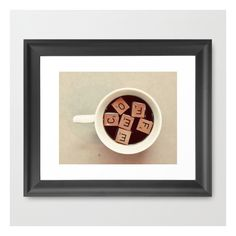 Coffee Framed Art Print (£27) ❤ liked on Polyvore featuring home, home decor, wall art, framed art prints, framed photography wall art, framed wall art, black wall art, black home decor and black framed wall art